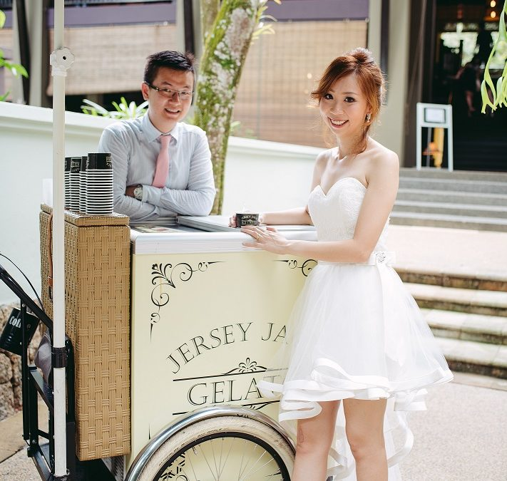 Jersey Jack Gelato Tricycle For Our Wedding Day